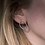Thumbnail: Textured Oval Earrings, Gold Plated