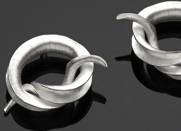 Forget Me Knot Stud Earrings, Silver