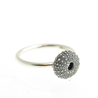 Urchin Ring, Oxidised Silver