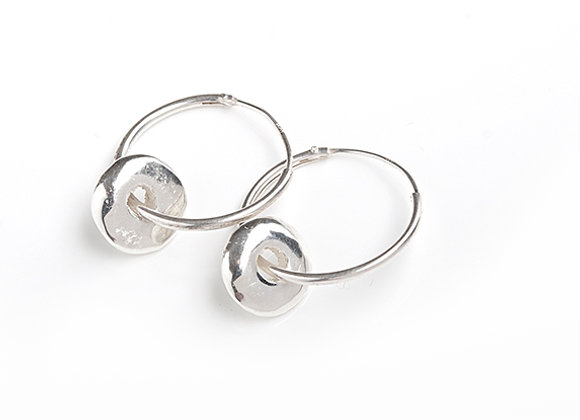 Hoop Earrings with Pebbles