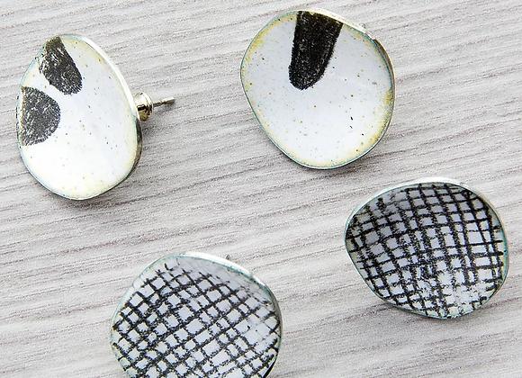 Irregular Curved Stud Earrings