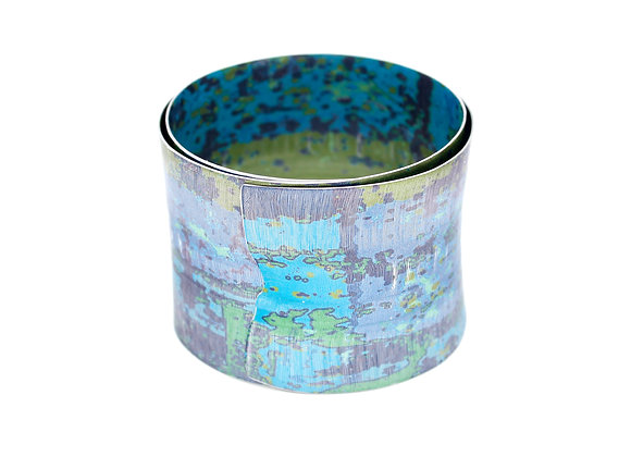 5cm Spiral Bangle, Blue