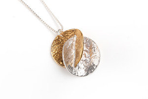 Harmony Necklace, Silver and GP
