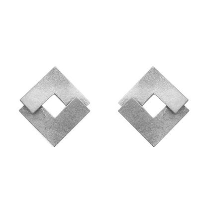 Geom Flat Stud Earrings