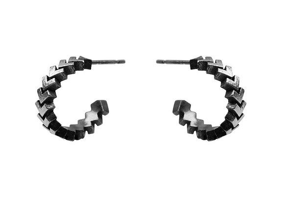Sync Mini Hoop Earrings Oxidised