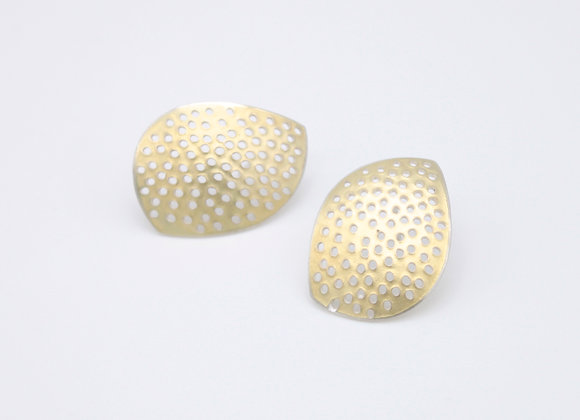 Leaf Stud Earrings with holes
