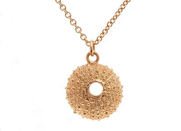 Urchin necklace, rose gold plated