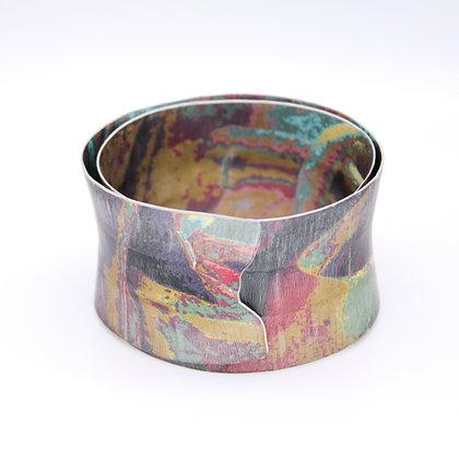 4cm Flared Spiral Bangle, Ochre