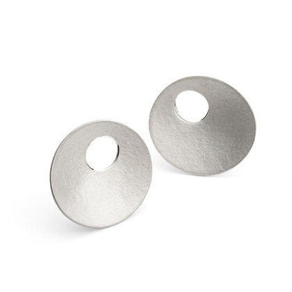 Concave Dome Stud Earrings