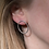 Thumbnail: Textured Oval Earrings