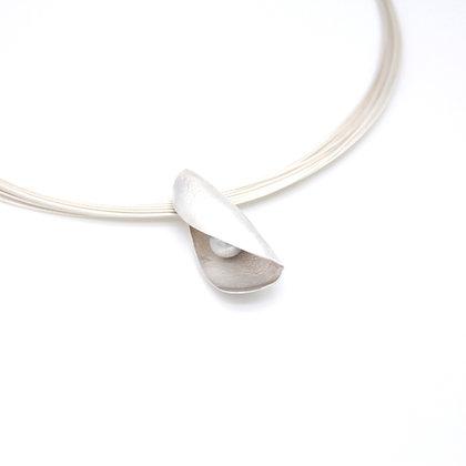 Pod Necklace, Fine Silver