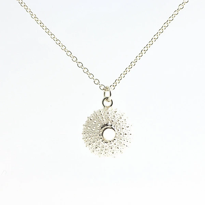 Urchin necklace, silver