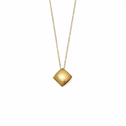 Mini Pillow Necklace, Gold Plated