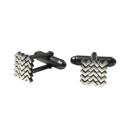Sync Cufflinks, oxidised silver