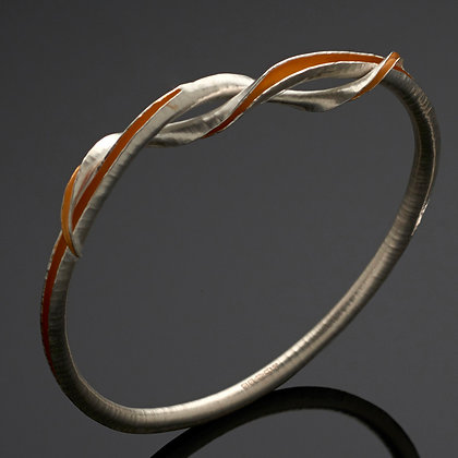 Forget Me Knot Bangle, Silver and GP