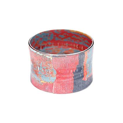 4cm Spiral Bangle, Red
