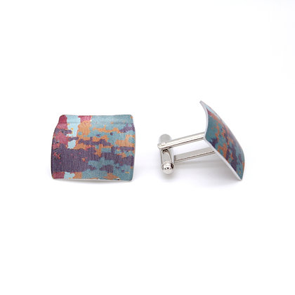 Oblong Cufflinks, Red