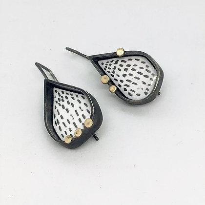 Gold Dot Drop Earrings