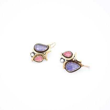 Tanzanite and Tourmaline Earrings