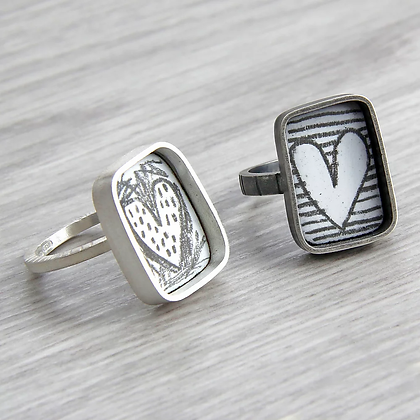 Small Square Inset Ring