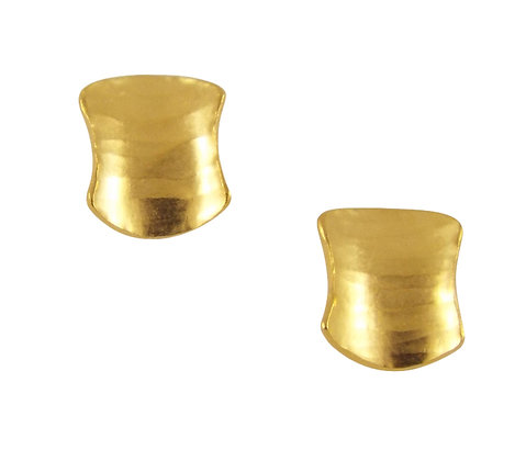 Shield Stud Earrings, GP