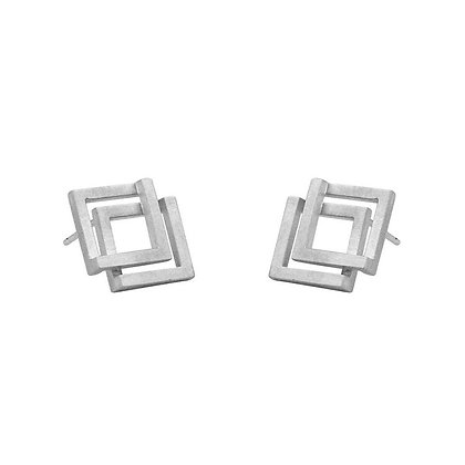Geom Double Stud Earrings