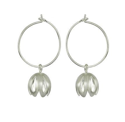 Outline Crocus Hoop Earrings