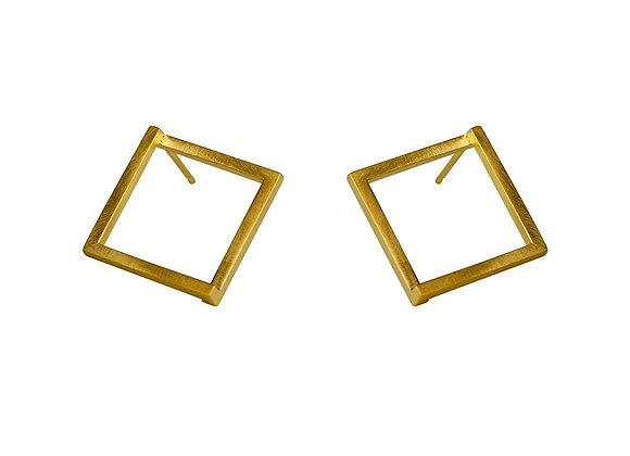 Geom Stud Earrings, gold plated