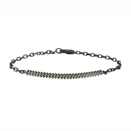 Sync Bracelet, oxidised silver