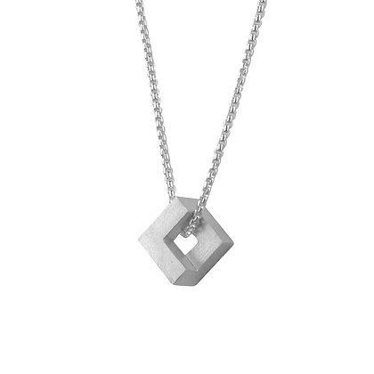 Geom Nugget Pendant, silver