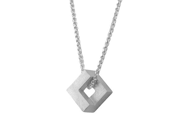 Geom Nugget Pendant, silver