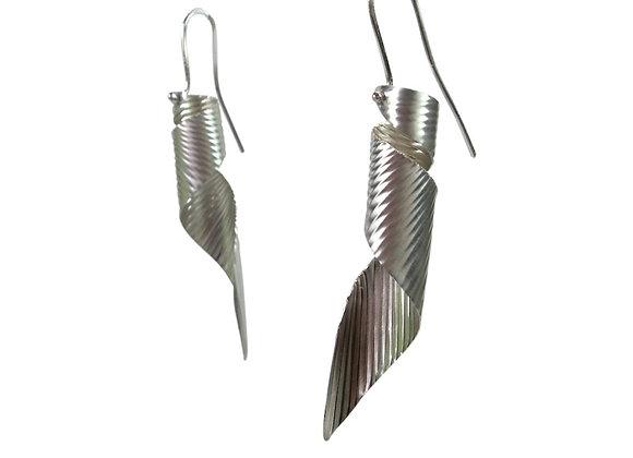 Spiral Ocean Vortex Earrings