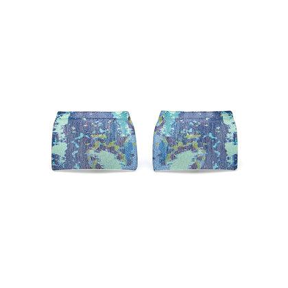 Oblong Cufflinks, Blue