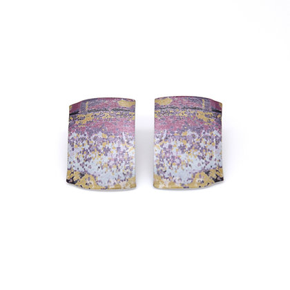 Large Oblong Stud Earrings, Lavender