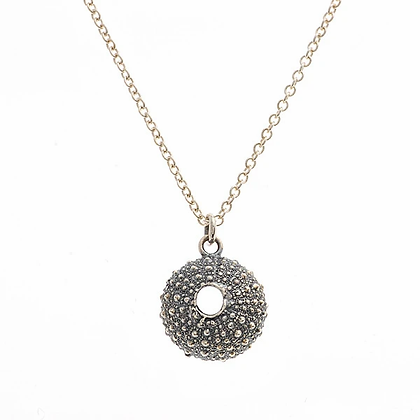 Urchin necklace, oxidised silver