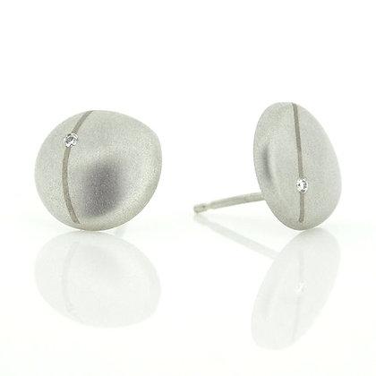 Flint Stud Earrings with Diamonds