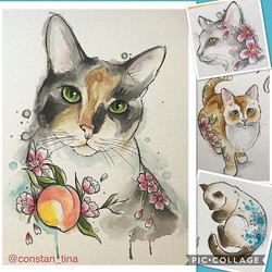 I'm now open for commissions for custom pet watercolor paintings 🐱🐶🐹🐰🐸🦔 e-mail me at cplopez00
