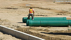 Working checking 2 big drainage pipes.jp