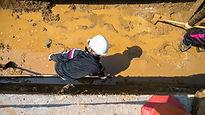 Preparing for big drainage pipe installa