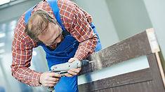 Restoring wooden garage door.jpg