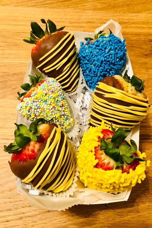 6 Chocolate Covered Strawberries