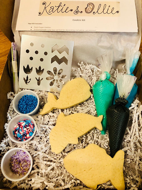 Sea Life Swimmers Cookie Kit