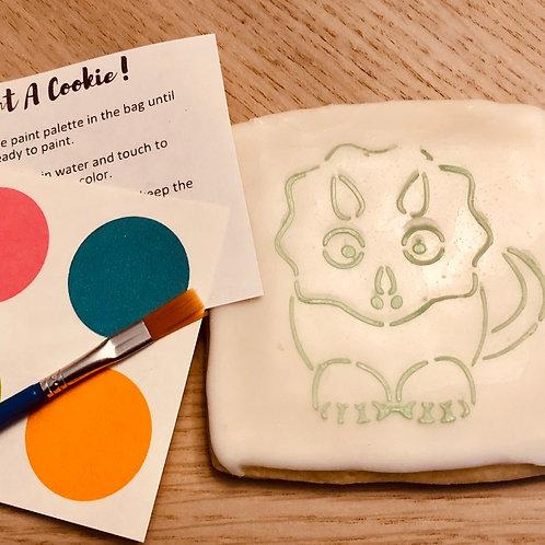 "Paint-Your-Own Cookie - ""Stegosaurus"""