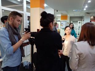 10/13 ベラルーシ国営テレビより代表五島が取材を受けました