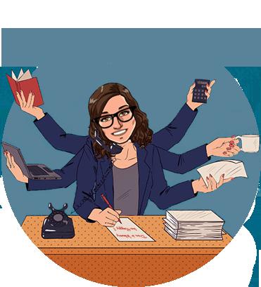 Chloé Poirier secrétaire indépendante à Lille, assistante freelance - Dont't Worry Be Happy