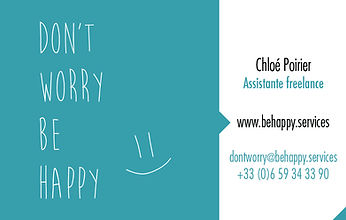 Chloé Poirier - Assistante freelance Lille - don't worry be happy