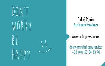 Chloé Poirier - Assistante freelance Lille - don't worry be happy