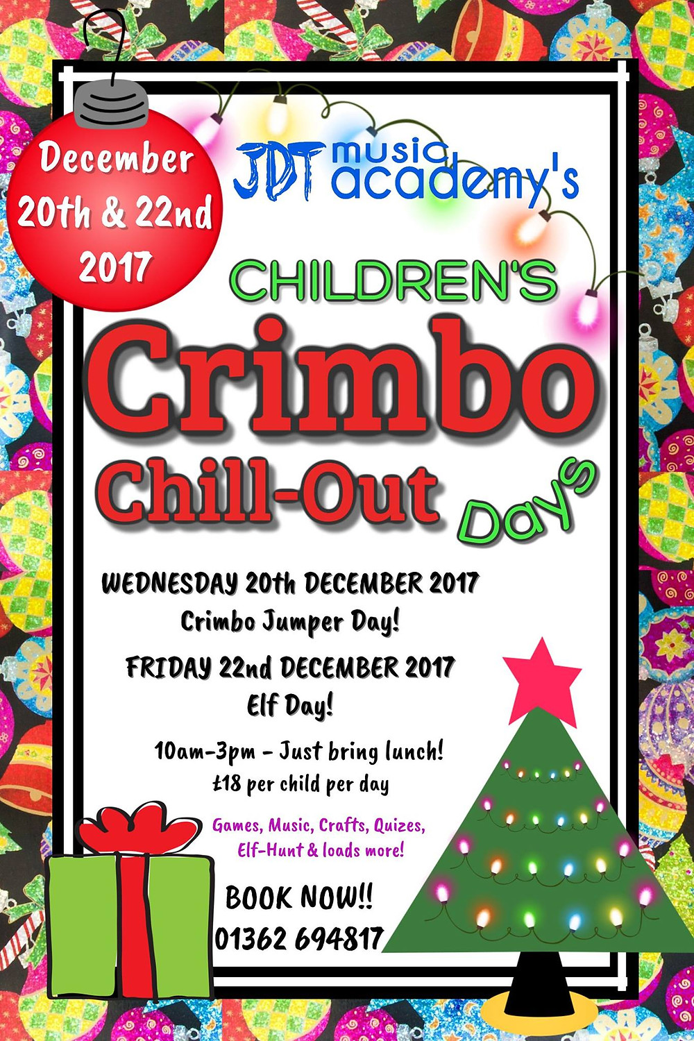 Crimbo Chill Out Flyer 2017