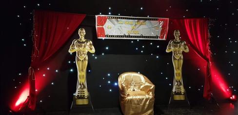 Fiesta La noche de los Oscar's. Escenario