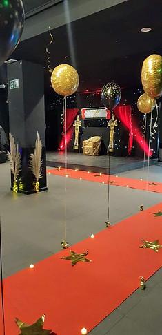 Fiesta La noche de los Oscar's. Alfombra roja y escenario
